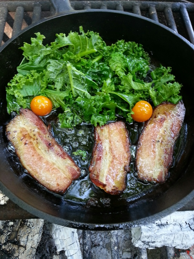 bacon and kale