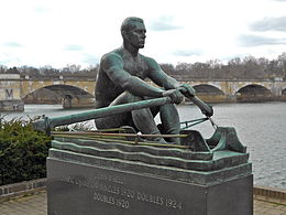 John B. Kelly statue, via wikipedia