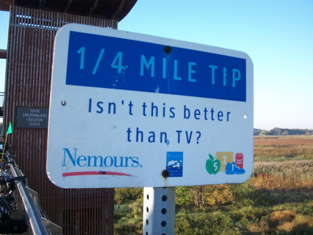 Message on the Riverfront Trail in Wilmington, Delaware