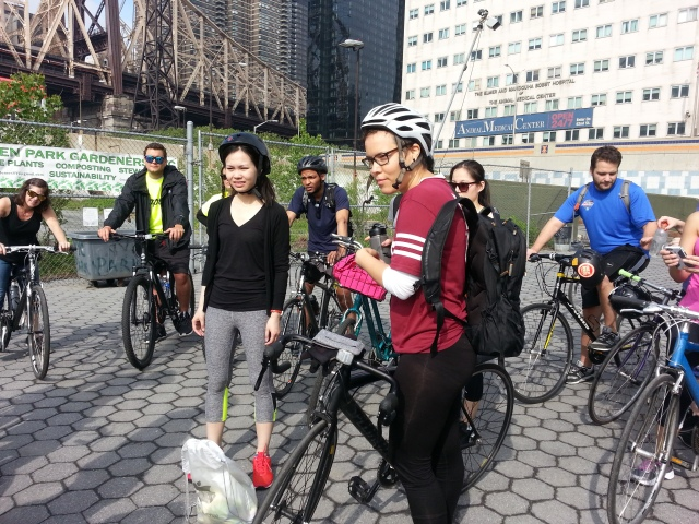 The group gets ready for the Four-Island Bike Ride earlier this year