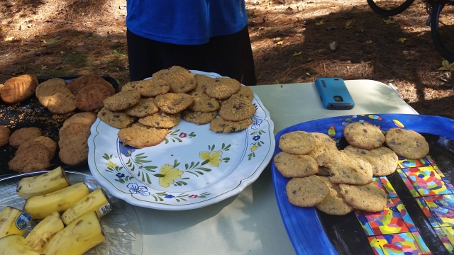 homemade cookies at rest stop