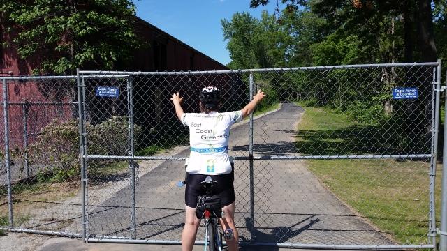farmington trail fenced off