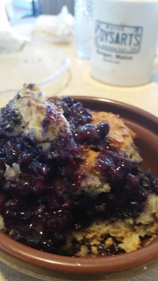 ecg dysarts blueberry cobbler