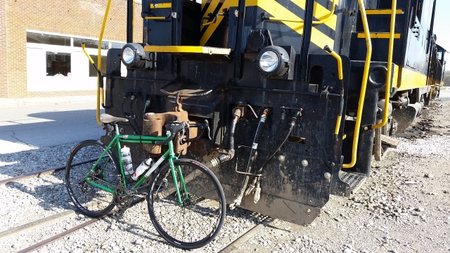 train and bike